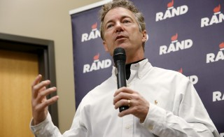 Republican presidential candidate Senator Rand Paul (R-TX) speaks at Crossroads Shooting Sports in Johnston, Iowa, January 17, 2016. REUTERS/Aaron P. Bernstein - RTX22SJA
