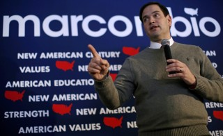 U.S. Republican presidential candidate Marco Rubio speaks at a campaign event in Waverly, Iowa, United States on Jan. 18, 2016. Photo by Jim Young/Reuters
