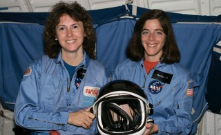 Teachers Christa McAuliffe and Barbara Morgan. Morgan, right, was selected as the backup to Christa McAuliffe to be the first teacher in space. Though the program was shut down after the explosion of the Space Shuttle Challenger, which killed McAuliffe and her crewmates, Morgan would eventually travel into space as a full-fledged astronaut.