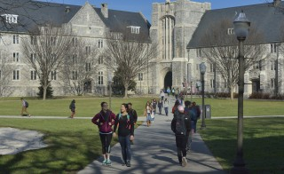 Class change at Virginia Tech, one of many universities and colleges making a case for its value to the local and national economy and for the return on the investment in a degree. Photo by Jim Stroup/The Hechinger Report.
