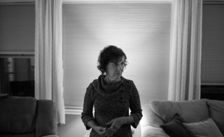 """Jane hates this part of her home, as it's the exact spot where she learned that her sister was among the educators killed in the shooting at the Sandy Hook Elementary School. Photo from """"It Takes Us"""" photo series by Joe Quint"""