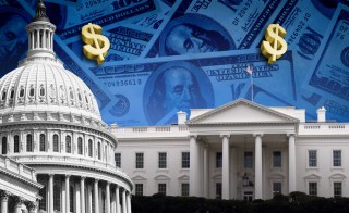 The federal budget deficit is expected to rise to $544 billion this year,  the first time since 2009, according to a  Congressional Budget Office report released Tuesday. Image by PBS NewsHour