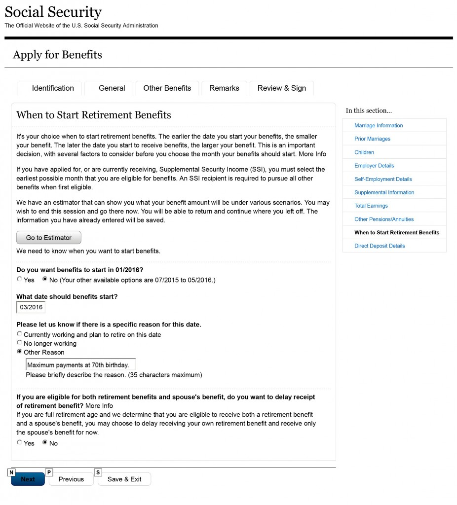 Social Security Online Application