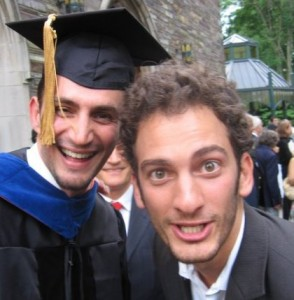 Banki, left, pictured in 2006 at his Princeton University commencement. Photo courtesy of Mahmoud Reza Banki.