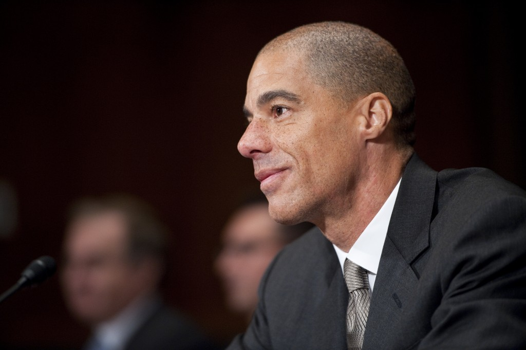 File photo of Paul Watford testifying at his Senate confirmation hearing to be a judge for the 9th U.S. Circuit Court of Appeals on Dec. 13, 2011. Photo by Bill Clark/Getty Images