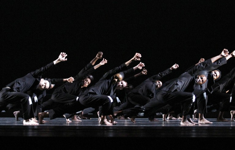 """NEW YORK, NY - JUNE 17:  Alvin Ailey Dancers rehearse """"No Longer Silent"""" at the David H. Koch Theater in Lincoln Center on June 17, 2015 in New York City.  (Photo by Donna Ward/Getty Images)"""