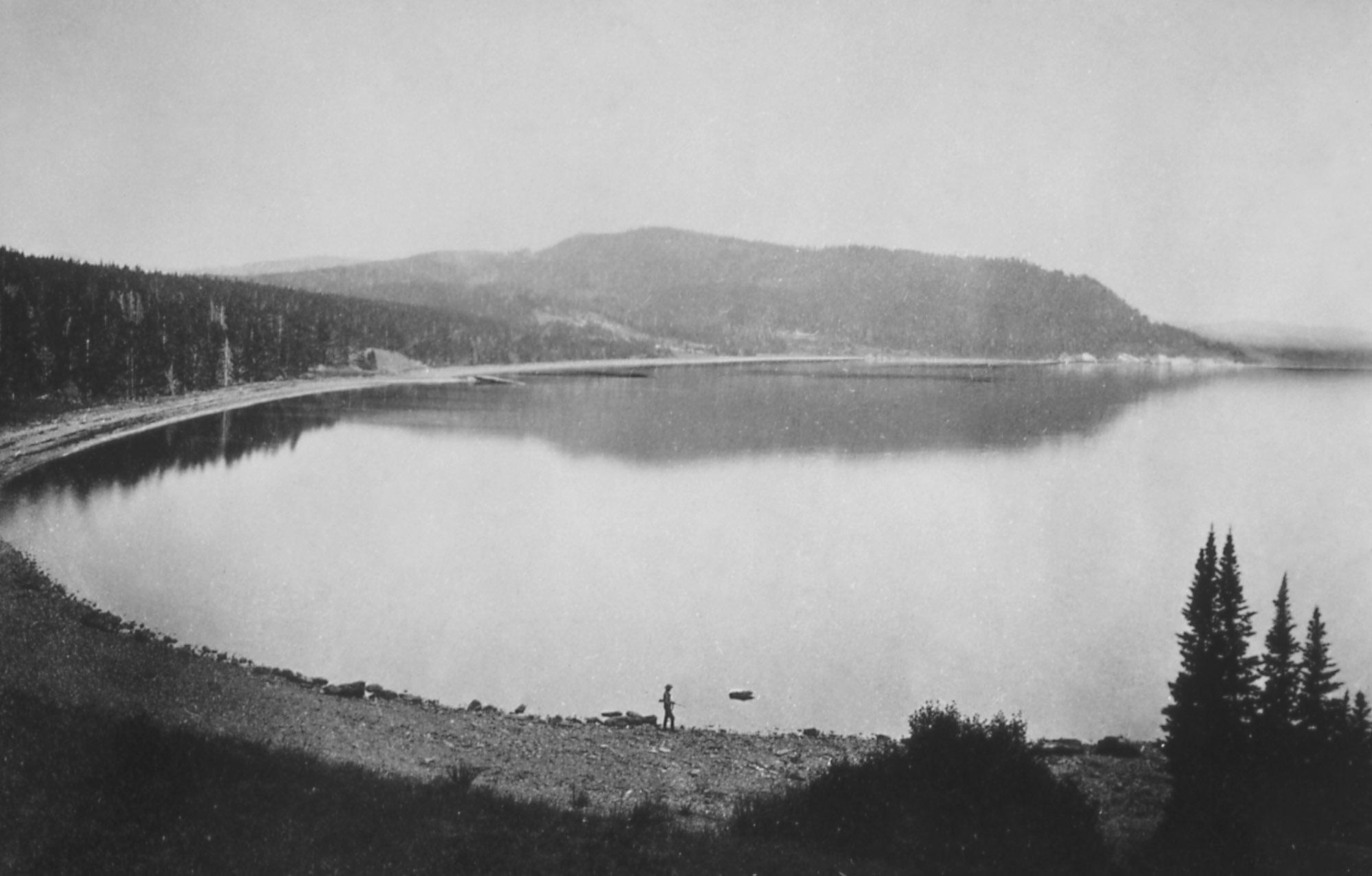 Yellowstone Lake – Yellowstone National Park – by William Henry Jackson (1871)