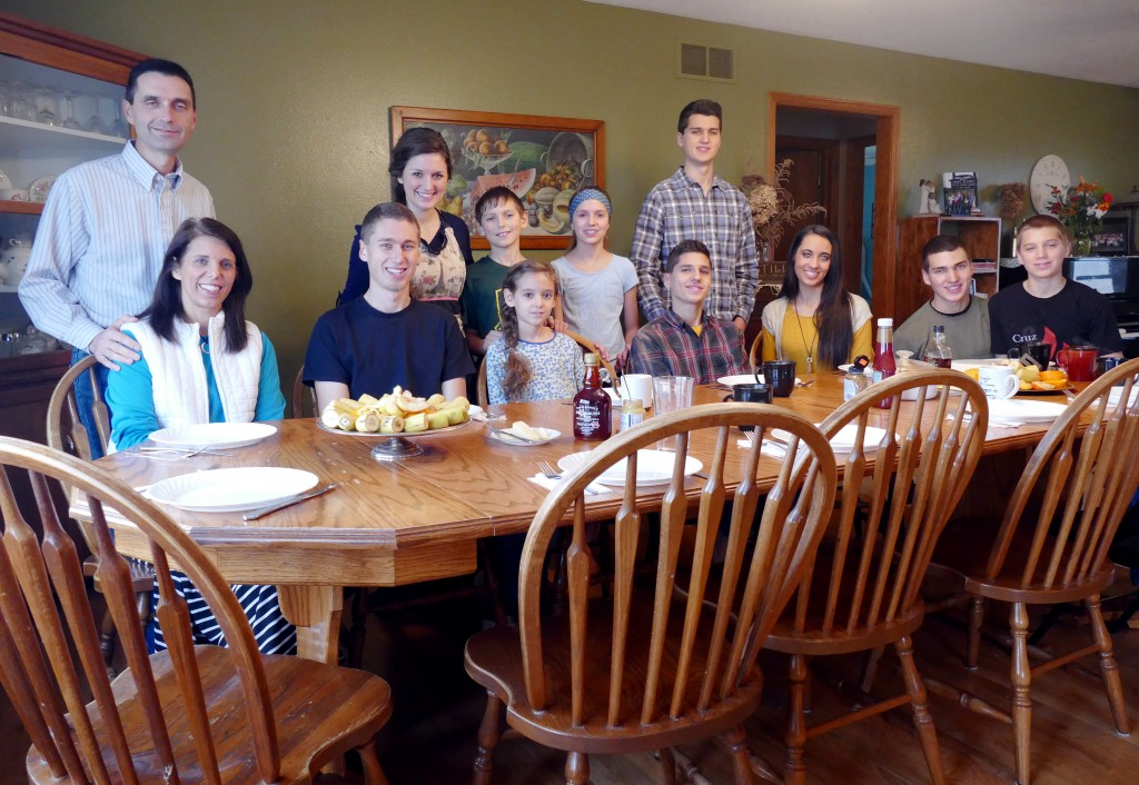 The Bontrager family at home. Photo by Dan Bush