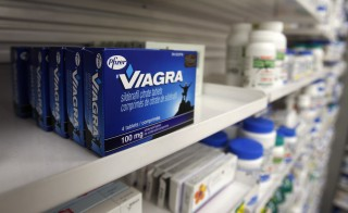 A box of Viagra, typically used to treat erectile dysfunction, is seen in a pharmacy in Toronto on Jan. 31, 2008. Photo by Mark Blinch/Reuters