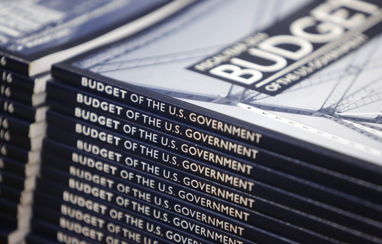 Copies of President Barack Obama's proposed 2016 budget are displayed for sale at the Government Printing Office in Washington, D.C.. Photo by Jonathan Ernst/Reuters