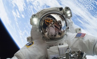 Astronaut Mike Hopkins, Expedition 38 Flight Engineer, is shown in this handout photo provided by NASA as he participates in the second of two spacewalks which took place on December 24, 2013. A record number of people recently tendered applications for open astronaut positions with NASA.  NASA/Reuters