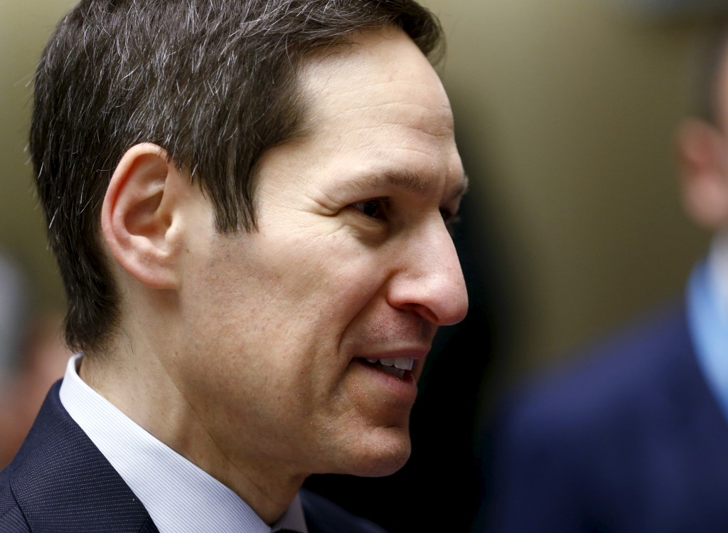 Director of the U.S. Center for Disease Control (CDC) Tom Frieden attends the World Health Organization Executive Board meeting in Geneva, Switzerland, January 25, 2016. The mosquito-borne Zika virus, which is suspected of causing brain damage to babies in Brazil, is expected to spread to all countries in the Americas except for Canada and Chile, the World Health Organization said. Photo by Denis Balibouse/REUTERS