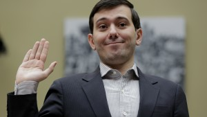 "Martin Shkreli, former CEO of Turing Pharmaceuticals LLC, is sworn in to testify at a House Oversight and Government Reform hearing on ""Developments in the Prescription Drug Market Oversight"" on Capitol Hill in Washington February 4, 2016. Shkreli invoked his Fifth Amendment right against self-incrimination and declined to answer questions on Thursday from U.S. lawmakers interested in why the company raised the price of a lifesaving medicine by 5,000 percent.  REUTERS/Joshua Roberts TPX IMAGES OF THE DAY - RTX25HGY"