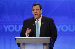 Republican U.S. presidential candidate and Governor Chris Christie speaks during the Republican U.S. presidential candidates          debate sponsored by ABC News at Saint Anselm College in Manchester, New Hampshire February 6, 2016.     Carlo Allegri/Reuters