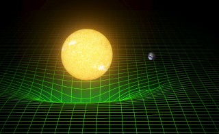 A computer simulation shows how our sun and Earth warp space and time, or spacetime, represented here with a green grid in this image released in Washington February 11, 2016. Scientists have for the first time detected gravitational waves, ripples in space and time hypothesized by Albert Einstein a century ago, in a landmark discovery announced on Thursday that opens a new window for studying the cosmos.    REUTERS/Caltech/MIT/LIGO Laboratory/Handout via Reuters    FOR EDITORIAL USE ONLY. NOT FOR SALE FOR MARKETING OR ADVERTISING CAMPAIGNS. THIS IMAGE HAS BEEN SUPPLIED BY A THIRD PARTY. IT IS DISTRIBUTED, EXACTLY AS RECEIVED BY REUTERS, AS A SERVICE TO CLIENTS. NO RESALES. NO ARCHIVE.      TPX IMAGES OF THE DAY      - RTX26JLM