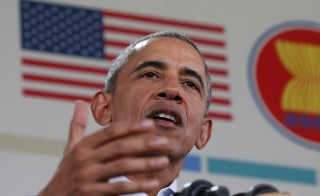 President Barack Obama speaks at a news conference after the 10-nation Association of Southeast Asian Nations (ASEAN) summit in Rancho Mirage, California. Obama insisted that Republicans agree to vote on his nominee to replace the late Supreme Court Justice Antonin Scalia. Photo by Kevin Lamarque/Reuters