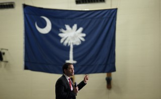 U.S. Republican presidential candidate Marco Rubio speaks during a campaign town hall at the Odell Weeks Activity Center in Aiken, South Carolina February 17, 2016. REUTERS/Chris Keane - RTX27F6H