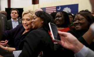 The level of support that Hillary Clinton received from black voters in the South Carolina primary on Saturday came as a surprise, even to her campaign officials. Photo by Randall Hill/Reuters