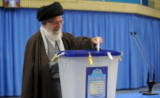 Iran's Supreme Leader Ayatollah Ali Khamenei casts his vote during elections for the parliament and Assembly of Experts, which has the power to appoint and dismiss the supreme leader, in Tehran February 26, 2016. REUTERS/leader.ir/Handout via Reuters ATTENTION EDITORS - THIS IMAGE WAS PROVIDED BY A THIRD PARTY. REUTERS IS UNABLE TO INDEPENDENTLY VERIFY THE AUTHENTICITY, CONTENT, LOCATION OR DATE OF THIS IMAGE. IT IS DISTRIBUTED EXACTLY AS RECEIVED BY REUTERS, AS A SERVICE TO CLIENTS. FOR EDITORIAL USE ONLY. NOT FOR SALE FOR MARKETING OR ADVERTISING CAMPAIGNS. EDITORIAL USE ONLY. NO RESALES. NO ARCHIVE.      TPX IMAGES OF THE DAY      - RTX28NM1