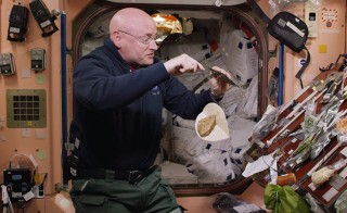 """How hard is it to prepare food in space? It's one of the challenges astronaut Scott Kelly faces during his year aboard the International Space Station, the longest space mission in American history. Image from """"A Year in Space,"""" which airs March 2 on PBS"""