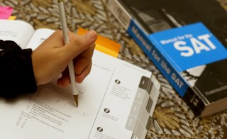 Suzane Nazir uses a Princeton Review SAT Preparation book to study for the test on March 6, 2014 in Pembroke Pines, Florida. Photo by Joe Raedle/Getty Images