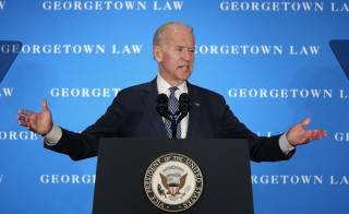 Vice President Joe Biden called on the U.S. Senate to hold confirmation hearings for Supreme Court nominee Merrick Garland during a speech at Georgetown University Law Center Thursday. Photo by Win McNamee/Getty Images