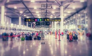 People At Airport Terminal
