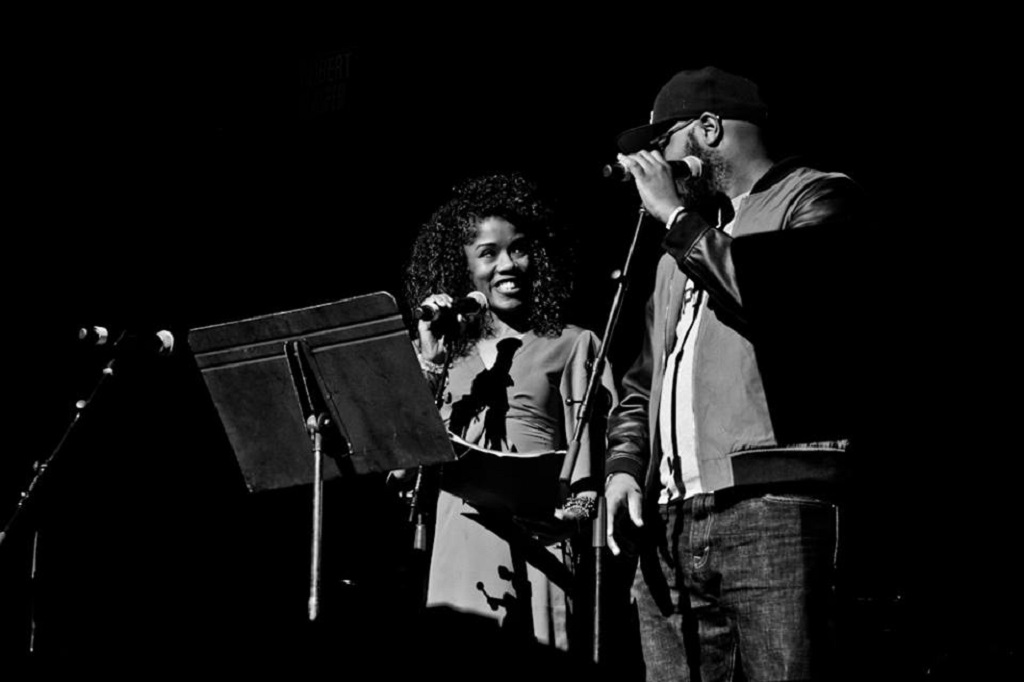 Natasha Thomas-Jackson, co-founder and executive director of Raise it Up!, and Nate Marshall. Photo by Derico A. Cooper
