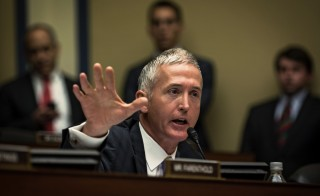 """House Benghazi Committee's Republican chairman, Rep. Trey Gowdy of South Carolina, said in an email to The Associated Press that the committee has made """"considerable progress"""" investigating the deadly 2012 attacks that killed four Americans at an American diplomatic compound in Benghazi, Libya. Photo by James Lawler Duggan/Reuters"""