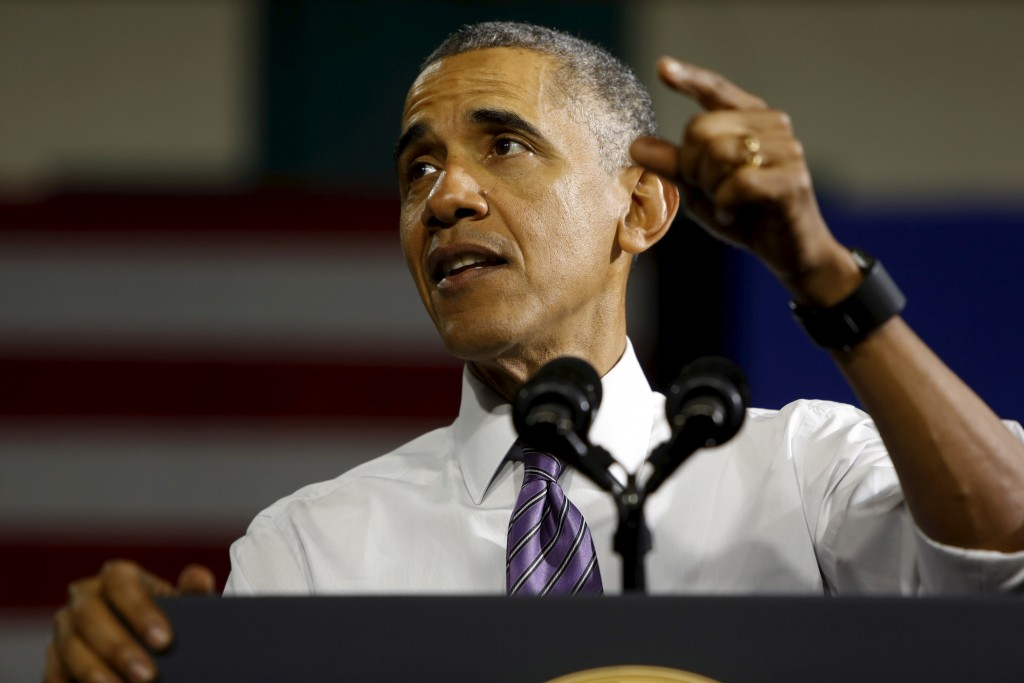 U.S. President Barack Obama delivers remarks about health insurance marketplace enrollments and the Affordable Care Act, commonly known as Obamacare, in Milwaukee, Wisconsin March 3, 2016. Relentless opposition to the president's policies may have helped lead to the rise of Donald Trump's presidential candidacy. Jonathan Ernst/Reuters