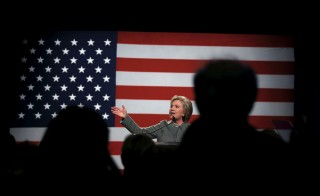 U.S. Democratic presidential candidate Hillary Clinton speaks at the Michigan Democratic Party meeting in Detroit, Michigan March 5, 2016. Carlos Barria/Reuters