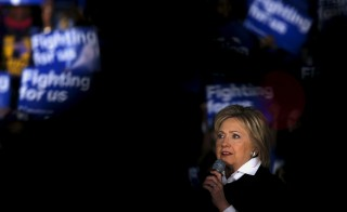 Democratic presidential candidate Hillary Clinton speaks at a campaign rally in Detroit, Michigan. Photo by Carlos Barria/Reuters