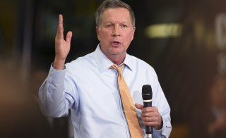 Republican presidential candidate John Kasich speaks at a rally in Broadview Heights, Ohio. Photo by Aaron Josefczyk/Reuters