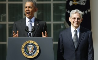 President Barack Obama announces Judge Merrick Garland as his nominee to the U.S. Supreme Court, in the White House Rose Garden.  Photo by Kevin Lamarque/Reuters