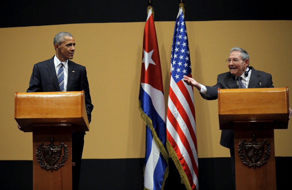 Cuban President Raul Castro answers a question during a news conference with U.S. President Barack Obama as part of Obama's three-day visit to Cuba, in Havana March 21, 2016. Photo by Carlos Barria/Reuters