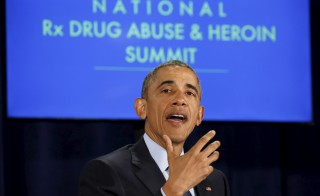 U.S. President Barack Obama speaks during a National Rx Drug Abuse and Heroin Summit in Atlanta, Georgia March 29, 2016. Photo by Kevin Lamarque/Reuters