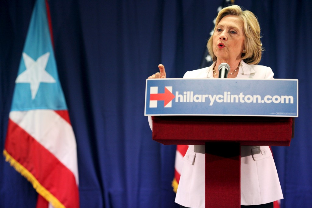 Democratic presidential candidate Hillary Clinton supports Puerto Rico restructuring its debt through the same Chapter 9 bankruptcy code afforded to U.S states. Photo by Alvin Baez/Reuters