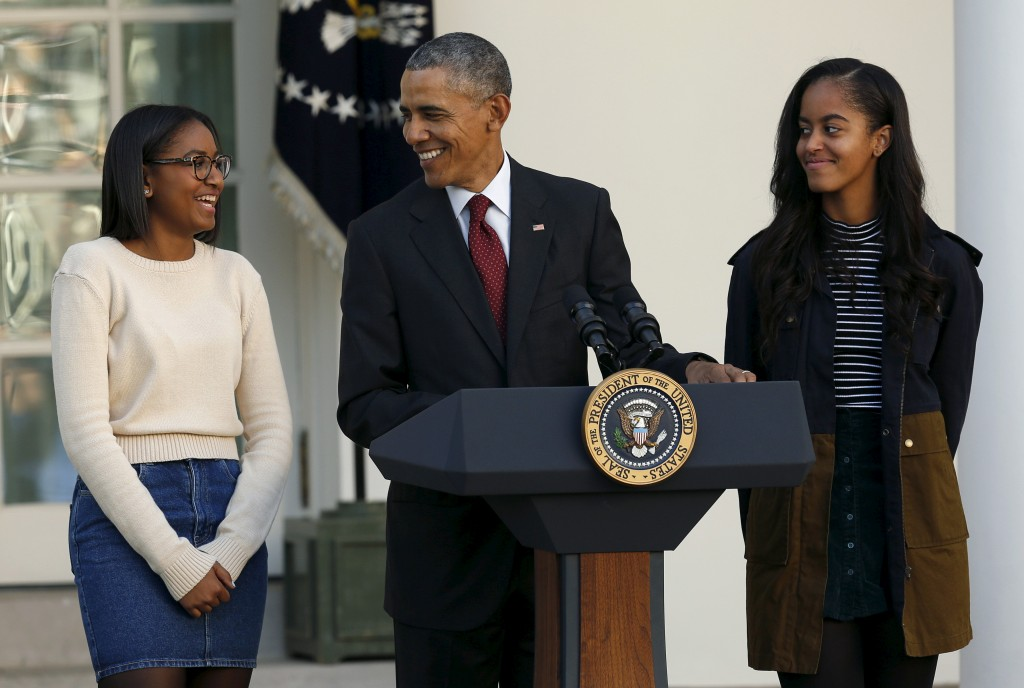 President Barack Obama says he'll stay in Washington for a couple of years after leaving office so daughter Sasha can finish high school. Photo by Gary Cameron/Reuters