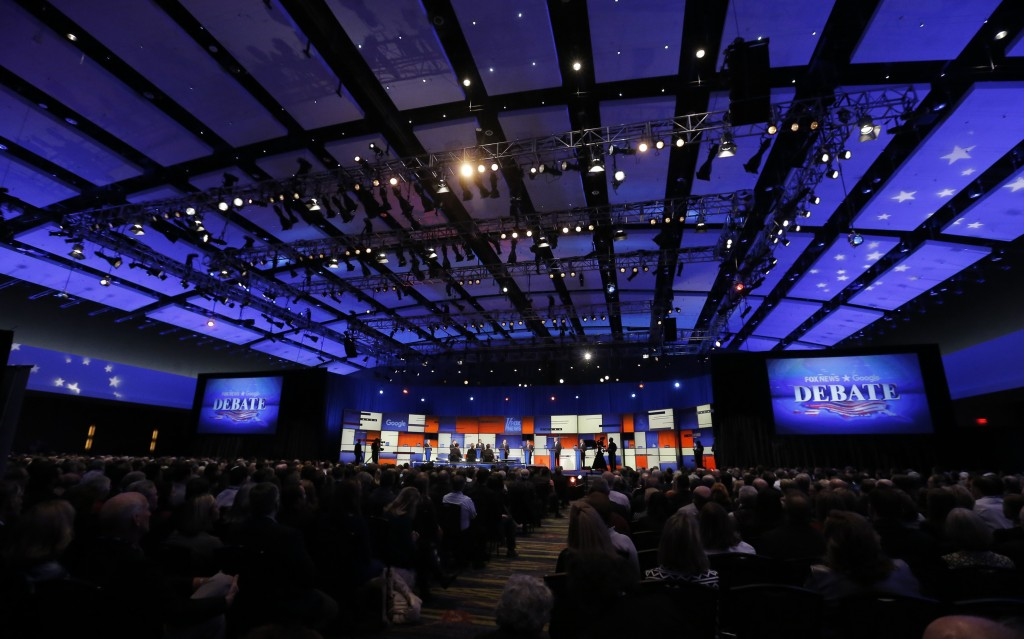 File photo of the Jan. 28 Republican debate held by Fox News. Photo by Jim Young/Reuters