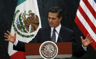 Mexican President Enrique Peña Nieto says he thinks comments by Republican presidential hopeful Donald Trump hurt U.S.-Mexico relations. Photo by Henry Romero/Reuters