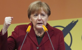 Angela Merkel, German Chancellor and leader of the conservative Christian Democratic Union (CDU) party addresses a Baden-Wuerttemberg state election campaign rally in Haigerloch, south-western Germany March 12, 2016, ahead of Sunday's regional elections in three states where the refugee crisis is expected to dominate voters' decisions.   REUTERS/Kai Pfaffenbach  - RTX28THR
