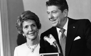 As first lady and during her husband's campaign for the presidency, Nancy Reagan was most effective behind the scenes. Photo by Reed Saxon/IMAGES/Getty Images