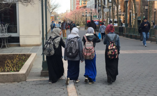 DO NOT USE -- Muslim girls walking