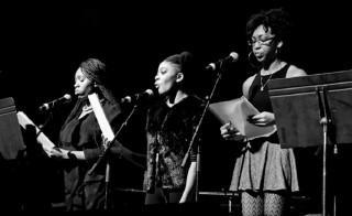 From left: Destiny Shannon, Razjea Bridges and Danielle Horton. Photo by Derico A. Cooper