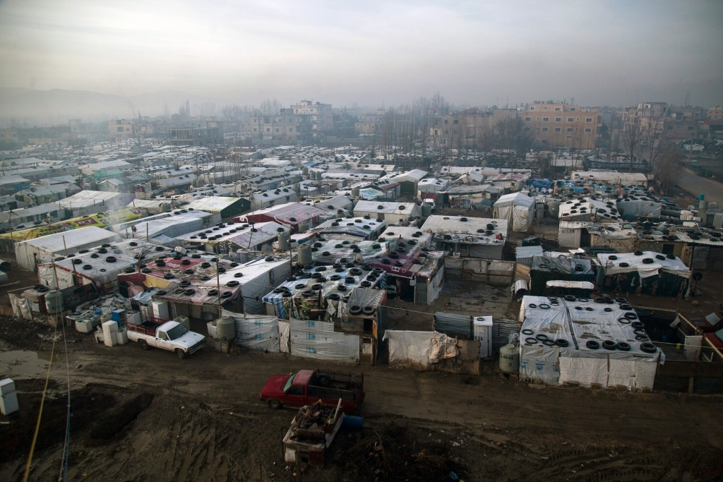 More than 1 million Syrian refugees have fled to Lebanon, some of whom live in this camp in the city of Barelias in central Lebanon. Photo by Christopher Lee for The GroundTruth Project
