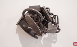 A piece by Melvin Edwards made of welded steel. Photo courtesy of WOSU