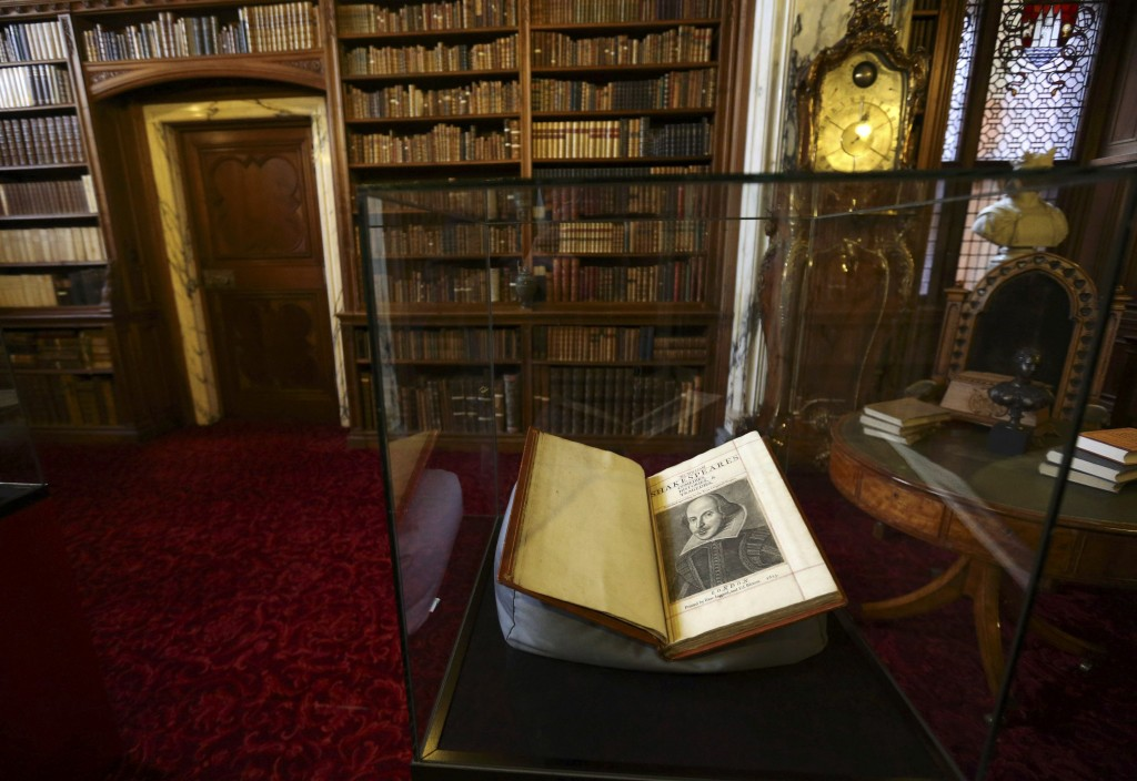The library of Mount Stuart, where a Shakespeare First Folio was discovered nearly 400 years after his death.  Image by Russell Cheyne / REUTERS