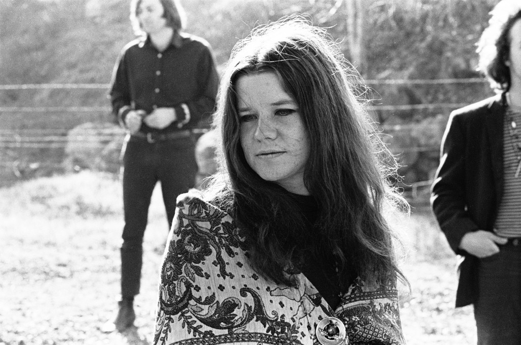 Janis Joplin with the band Big Brother and the Holding Company in Woodacre, California, 1967. Photo by Lisa Law
