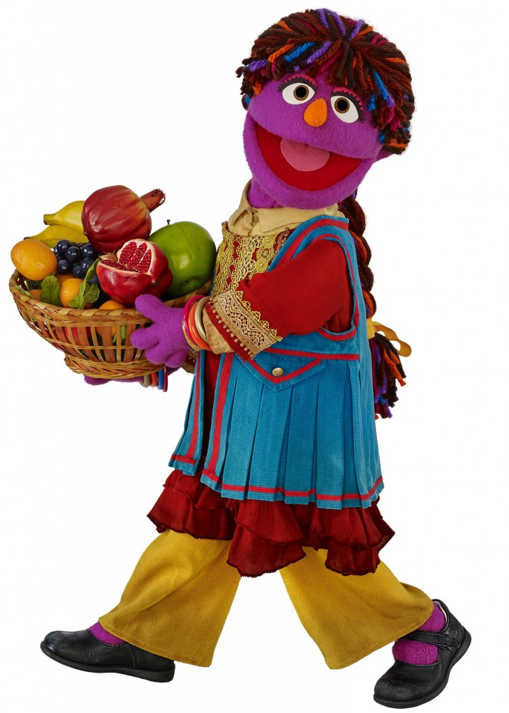 Sesame Workshop unveils its first Afghan Muppet, Zari, a curious and eager six year-old girl, who will make her debut in season 5 of Baghch-e-Simsim, the local co-production of Sesame Street. Photo courtesy of Sesame Workshop