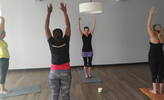 Harken Health members get free yoga at the clinic. Photo by Phil Galewitz/KHN